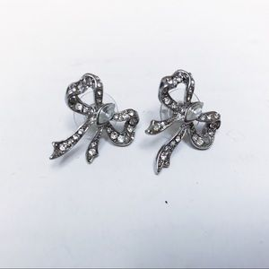 Betsey Johnson - Silver Bow Earrings